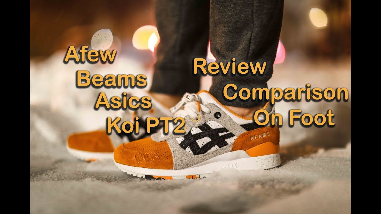 "innovative design 5a7f2 2d73c afew, BEAMS, and ASICS Tiger The Gel Lyte III ""Orange Koi"""