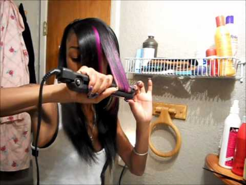 TUTORIAL; shaved side w/invisible part sew in - YouTube