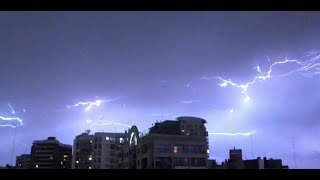 Electrical activity in the sky - Lightning bolt storm