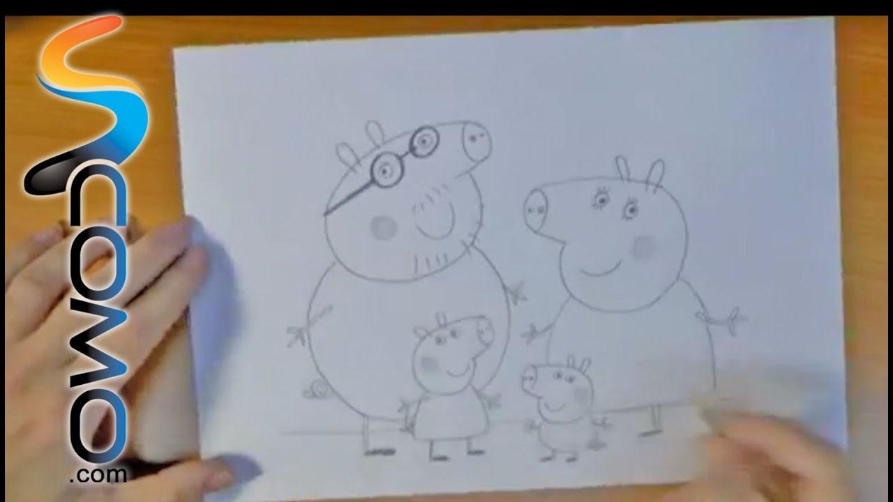 Dibujar a la familia de Peppa Pig  YouTube