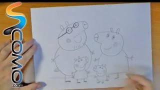 Dibujar a la familia de Peppa Pig - Draw family of Peppa Pig