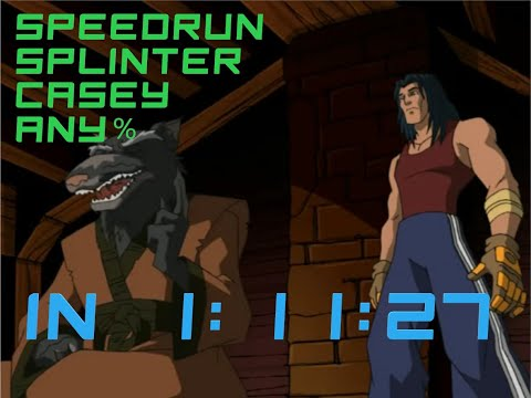 TMNT 2003 (PC). Speedrun Co-op Splinter And Casey [1:11:27] World Record