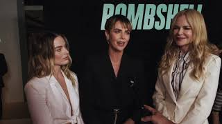 BOMBSHELL red carpet with  MARGOT & CHARLIZE & NICOLE