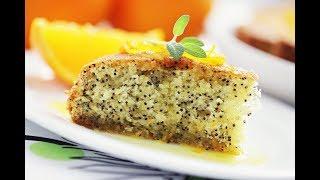 Сладкий заливной  пирог с маком