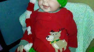🎄 Reborn toddler Thomas in his Christmas pajamas 🎄