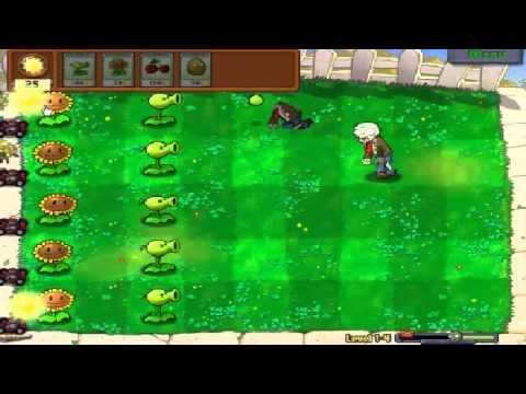 Plants vs zombies (Trồng cây bắn zombie) - Cấp độ 1-4 (Game Việt Hóa)