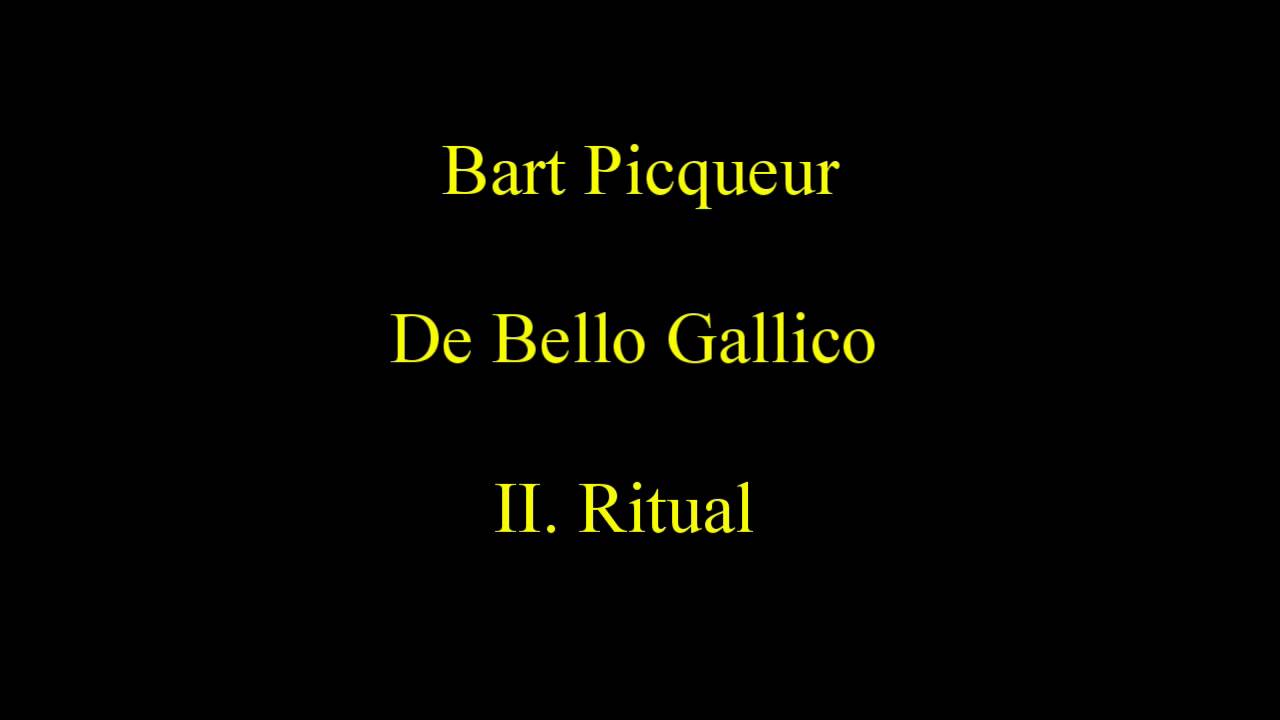 Bart Picqueur De Bello Gallico