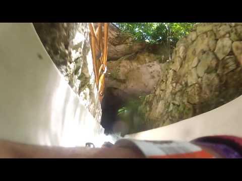 Xplor Riviera Maya Mexico  The Zip Line Course's Waterslide