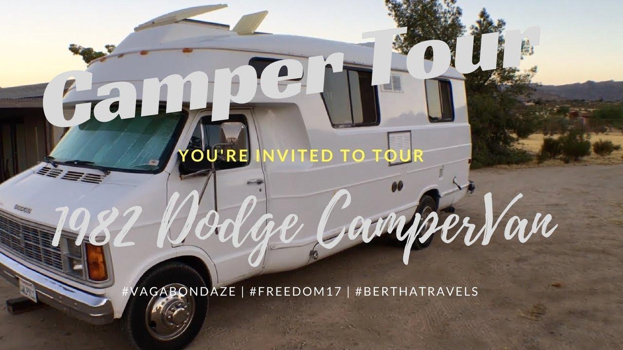 Camper Van Tour Vintage 82 Dodge One of a Kind (VagabonDaze)