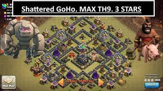 Clash of Clans-- GoHo vs MAX TH9. 3 STAR. Fixing common mistakes in WAR