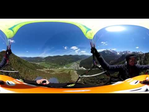 Paragliding over Kranjska Gora (360 video)