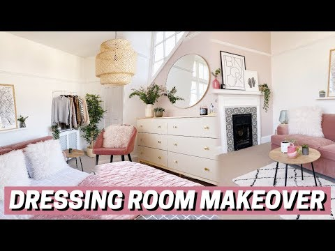 DRESSING ROOM/SPARE BEDROOM MAKEOVER 💓 before + after
