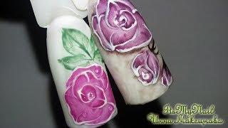 🌸Объемная трафаретная роза🌸Простой дизайн ногтей🌸Дизайн ногтей гель лаком🌸Nail Design Shellac🌸