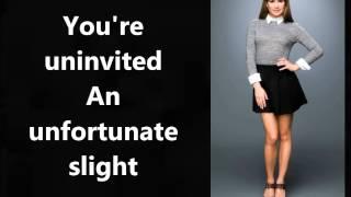 Uninvited - Glee Cast lyrics