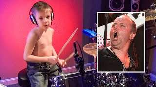 MASTER OF PUPPETS (6 year old Drummer) Drum Cover by Avery Drummer Molek thumbnail