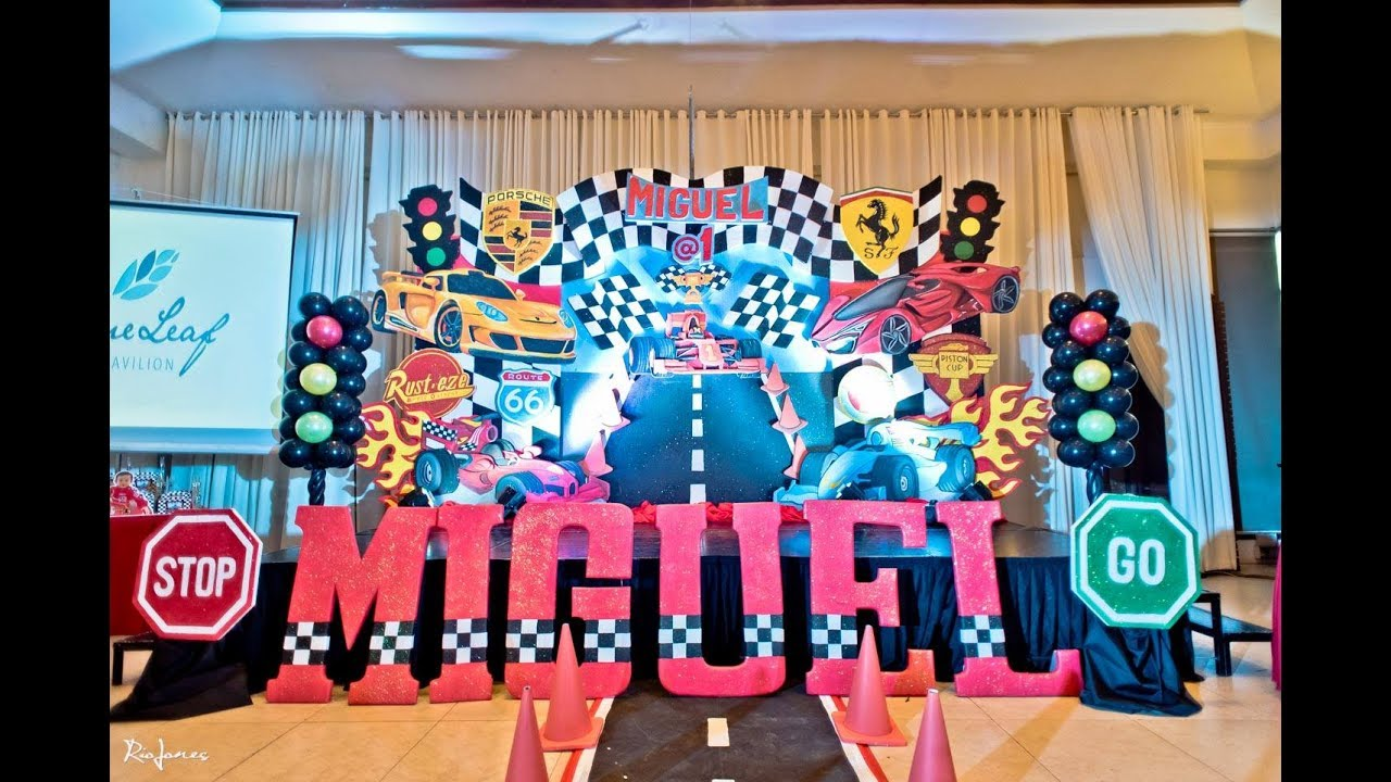 Miguels Formula 1 Racing Themed 1st Birthday At Blue Leaf Events