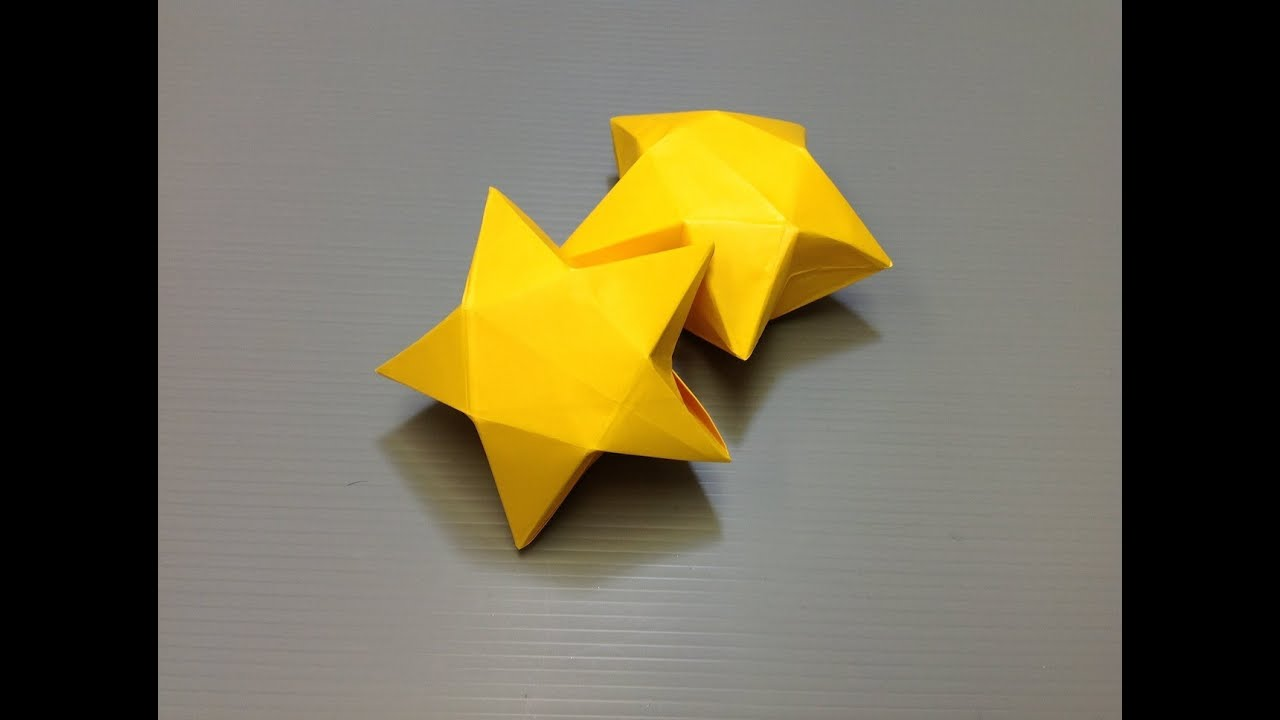 Daily Origami: 927 - Star Box - YouTube
