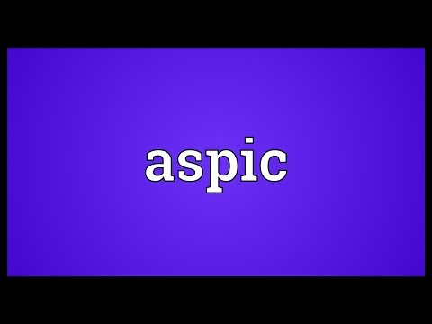 Aspic Meaning