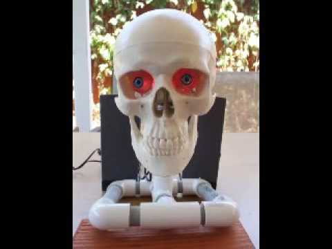 diy animatronic talking skull halloween prop - Talking Skull Halloween