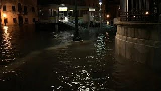 Water levels rise in Venice after heavy rainfall