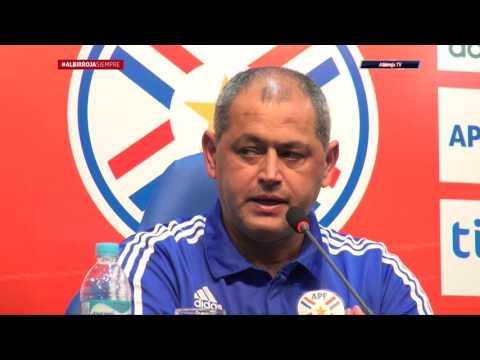 Conferencia de Prensa del DT Francisco Arce (Paraguay 0 Colombia 1)