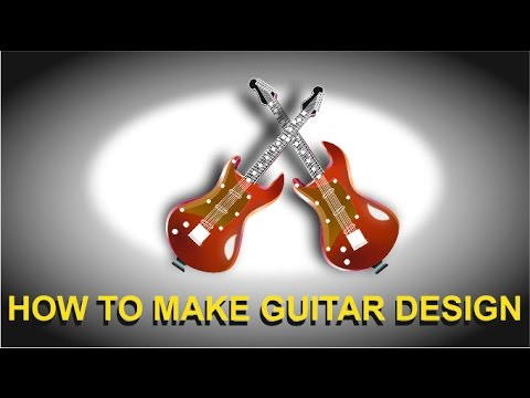 how to make guitar design in corel draw