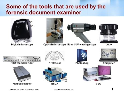 Forensic Tools Used By Document Examiners