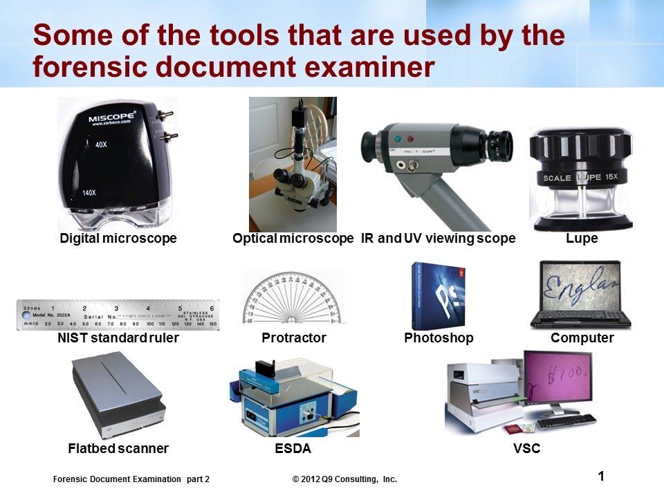 Forensic Tools Used By Document Examiners Youtube