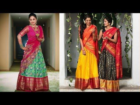 Silk Half Saree Designs 2019   Indian Fashion 2019