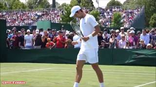 Novak Djokovic Training Wimbledon 2018