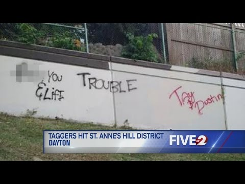 St. Anne's Hill tagged with graffiti