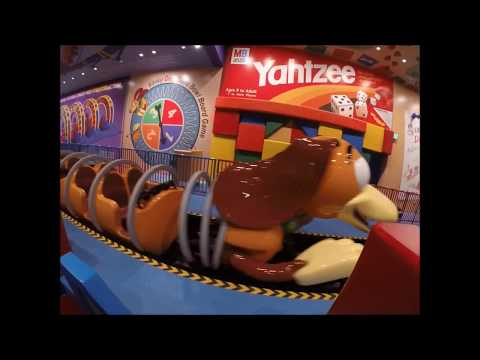 NEW Slinky Dog Dash Roller Coaster FULL RIDE NIGHT TOY STORY Land