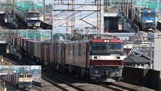 西浦和駅を通過して行く貨物列車たち