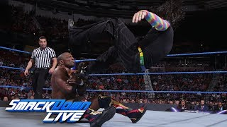 Jeff Hardy vs. Shelton Benjamin SmackDown LIVE, Aug. 14, 2018