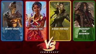 Commander VS S7E5: Domri Rade vs Saheeli Rai vs Nissa Revane vs Tezzeret [MTG]