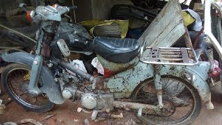 Old Honda Japan Motorcycle Starting Up After 10 Years | Old Motorcycle restoration Part 1