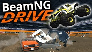 BeamNG Drive - MONSTER TRUCK MADNESS! - CRD Monster Truck & Monster Truck Maps - BeamNG Gameplay