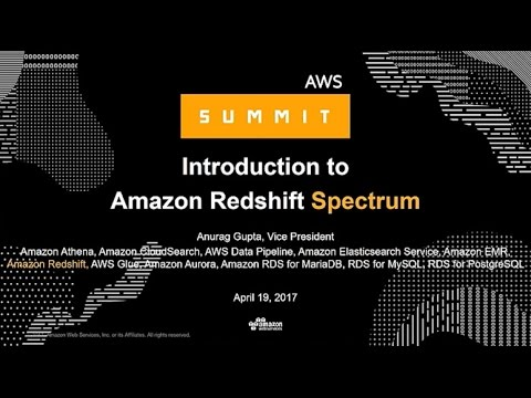 NEW LAUNCH! Intro to Amazon Redshift Spectrum: Now Query Exabytes of Data in S3