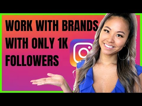 How to Collab With Brands On Instagram With LESS Than 1000 Followers | FREE Products & Make MONEY