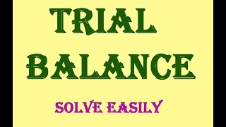 Preparing Trial Balance Or Adjusted Trial Balance