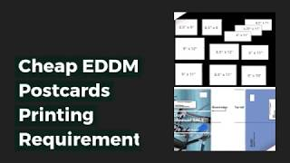 Cheap EDDM Postcards Printing Requirements for Your Business at 55printing.com