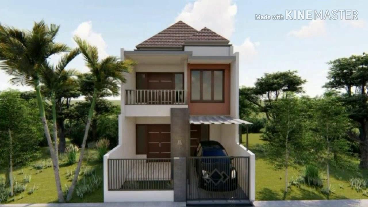 Desain Rumah 2 Lantai ukuran 5,5x10 m - YouTube