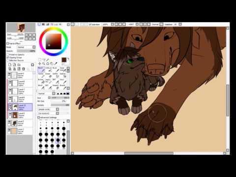 speedpaint anime wolf  - I love you mum