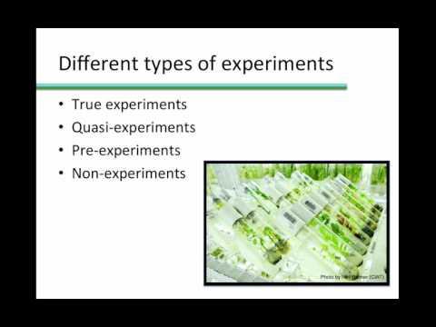 True, Quasi, Pre, and Non Experimental designs