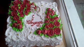Торт паутинка с розами