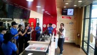 Domino's at Concord Mills Team Cheer Before We Open for the First Time