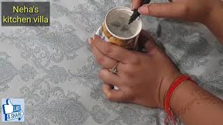 इस दिवाली 2मिनट में बनाएं रंगोली स्टैंसिल घर पर /Rangoli stencil making at home use plastic cup