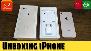 Iphone 8 unboxing do Aliexpress | veja se vale a pena comprar iPhone no Aliexpress!