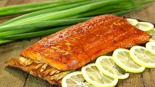 Planked Alaska Sockeye Salmon With Asian Glaze