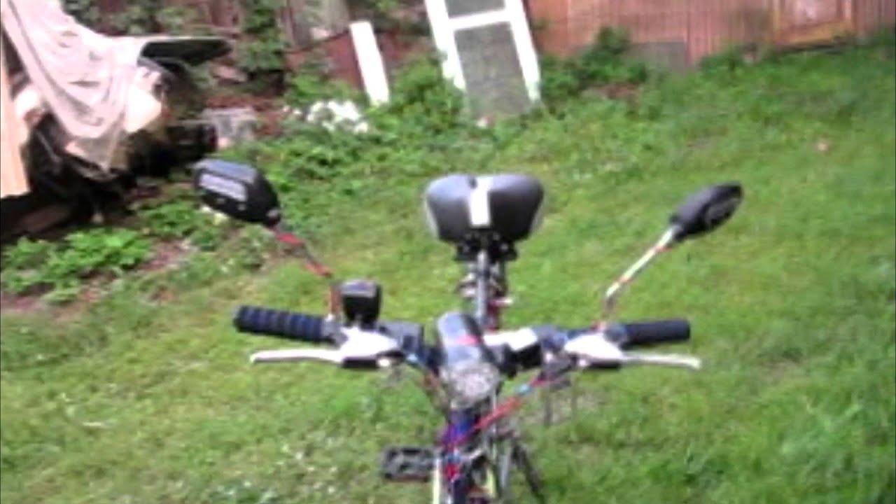 Велосипед с мотором стелс 50сс. - YouTube